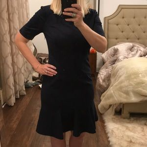Navy Banana Republic fitted dress 8P Navy Tailored